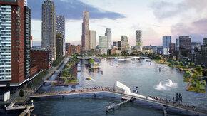 Schetsontwerp voor Rijnhavenpark in Rotterdam