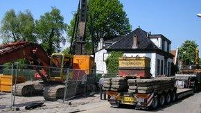 Trillingsmetingen tijdens bouwwerkzaamheden in Westzaan