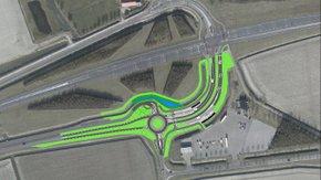 Reconstructie kruising N498-Schaapsweg